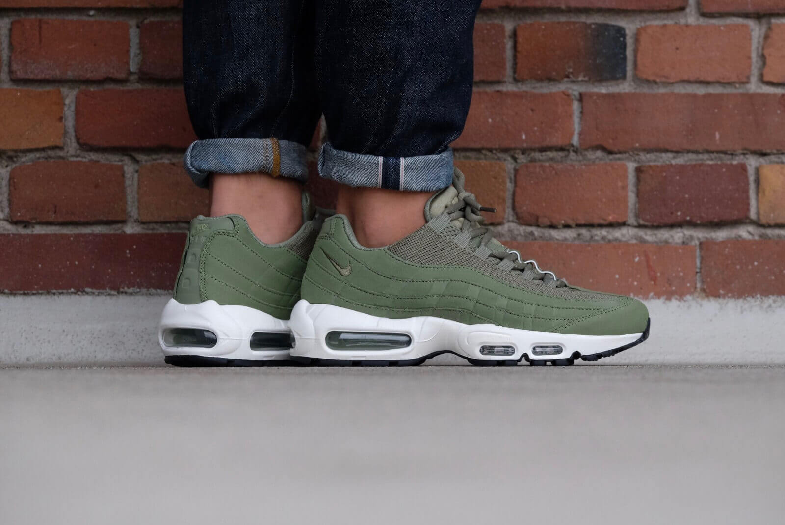 cheaper 9670d a235b usa nike wmns air max 95 palm green palm green sail black 307960 d2790 f7683