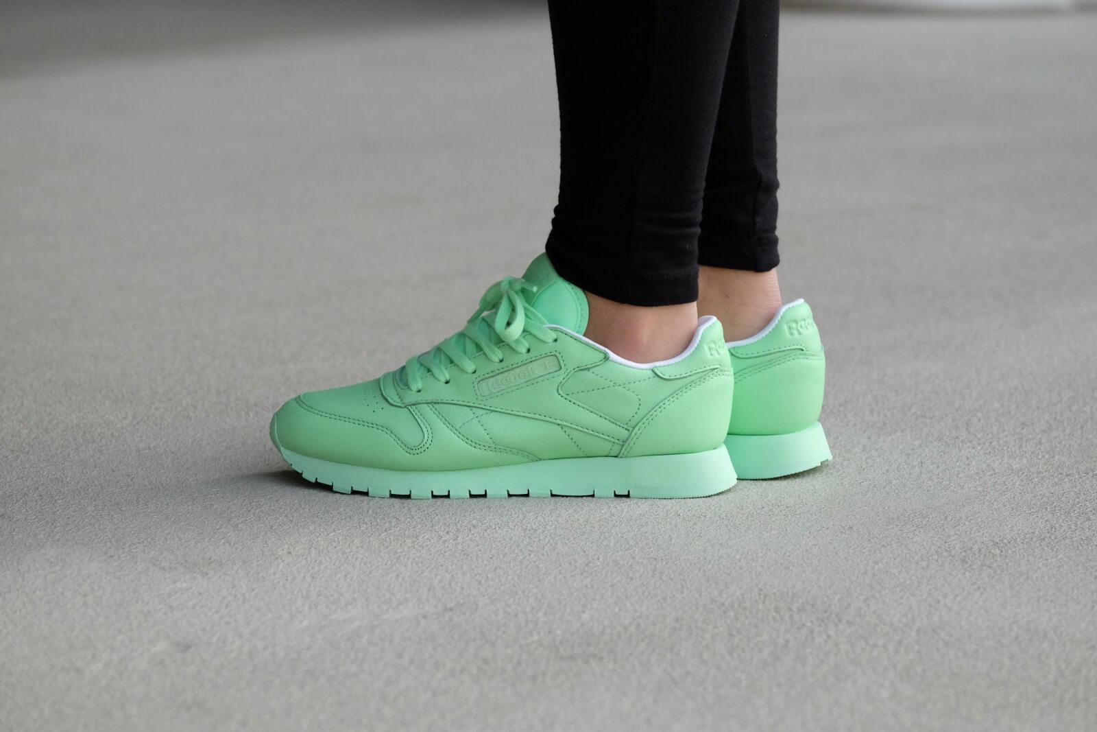 100% wysokiej jakości buty do separacji niska cena Reebok CL Leather - Mint Green / White - BD2773