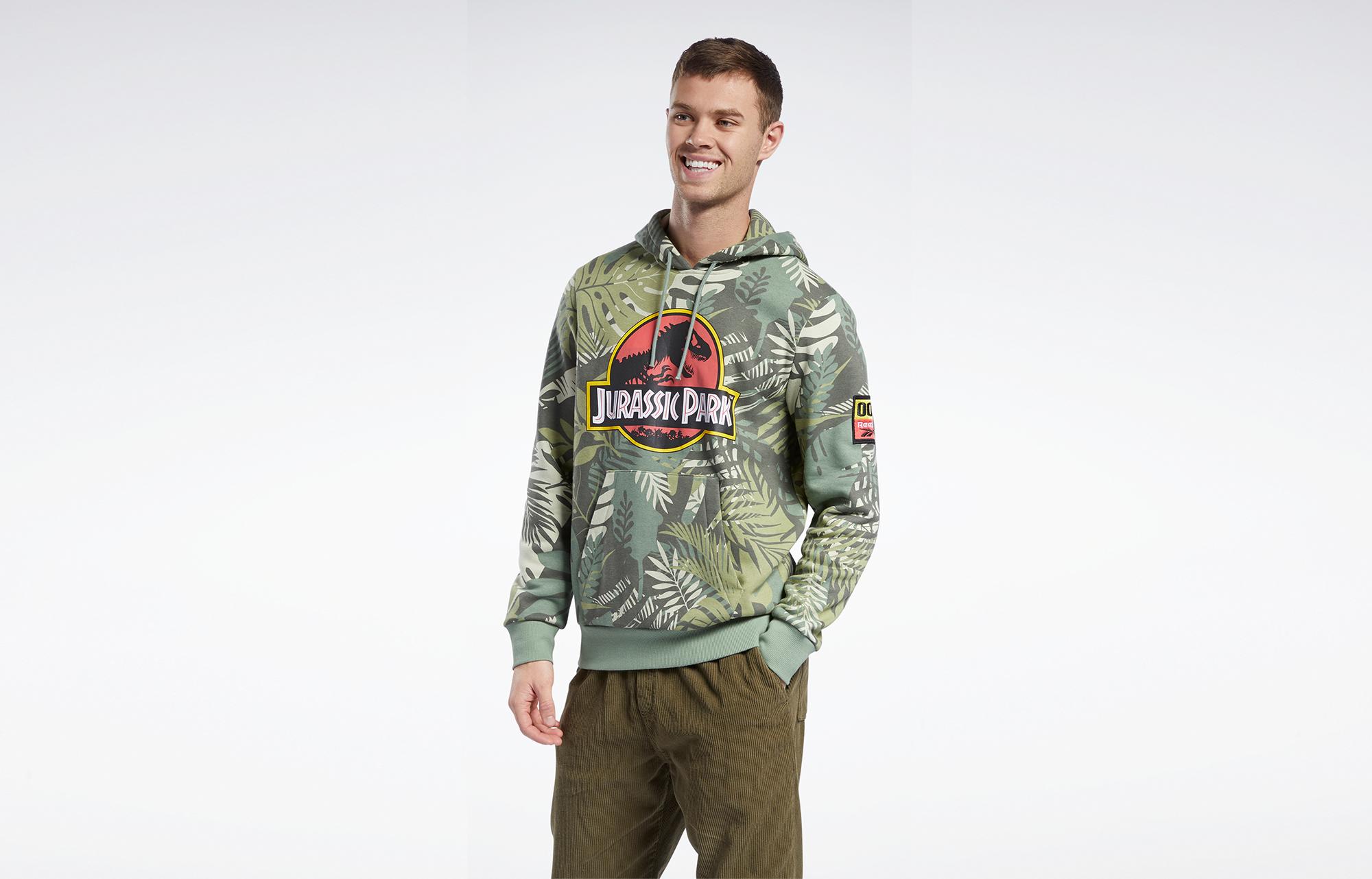 Reebok x Jurassic Park Logo Hoodie Vintage Green