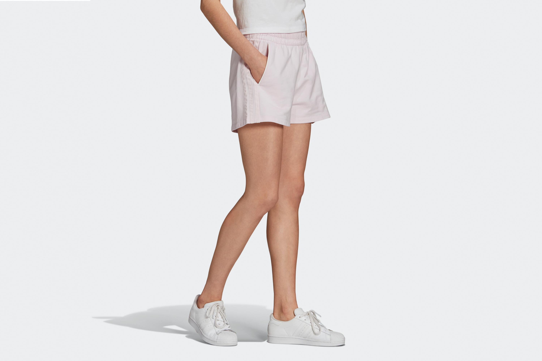 Adidas Women's 3 Stripes Short Pearl Amethyst