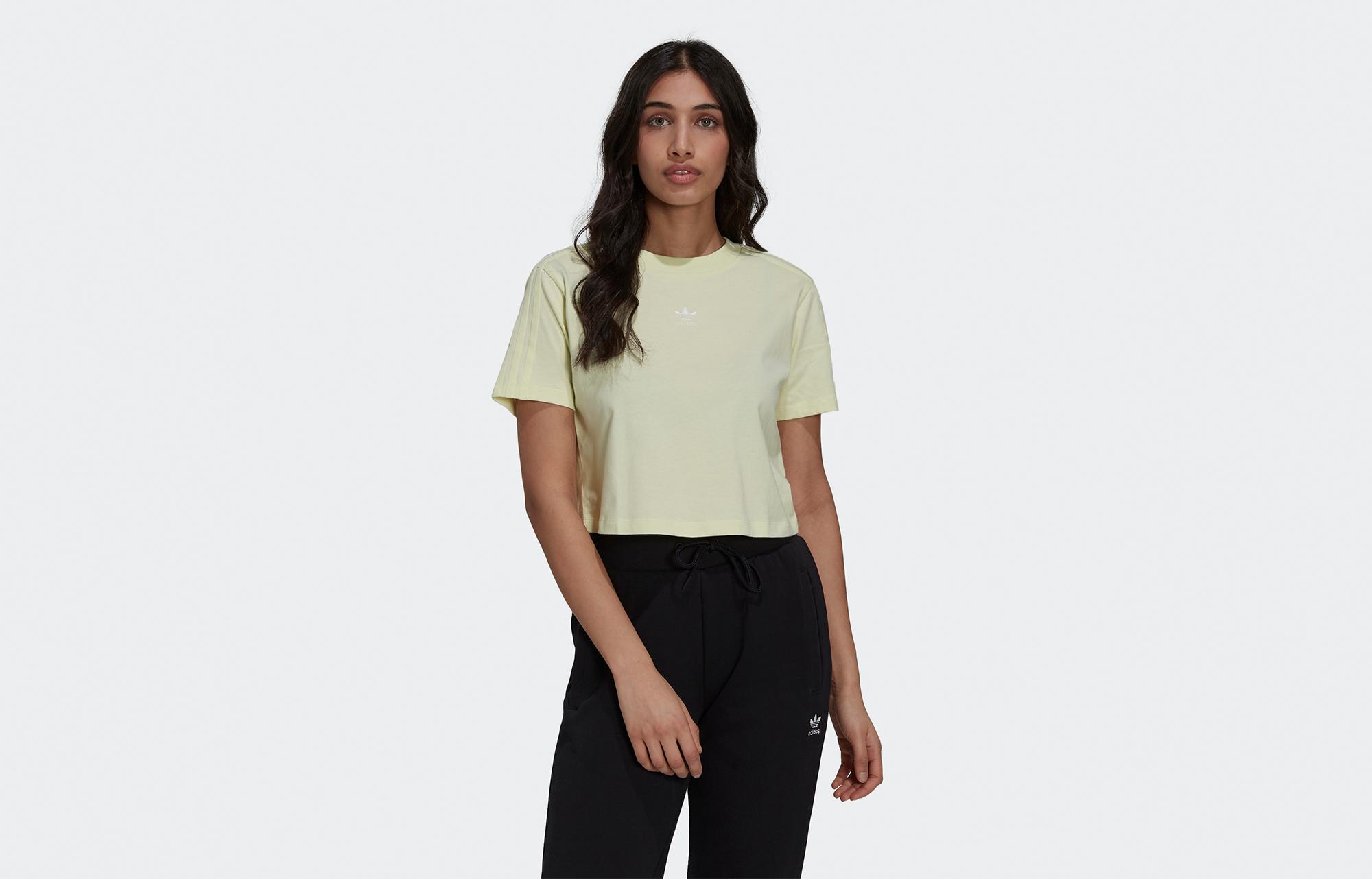 Adidas Women's Tennis Luxe Cropped T-Shirt Haze Yellow