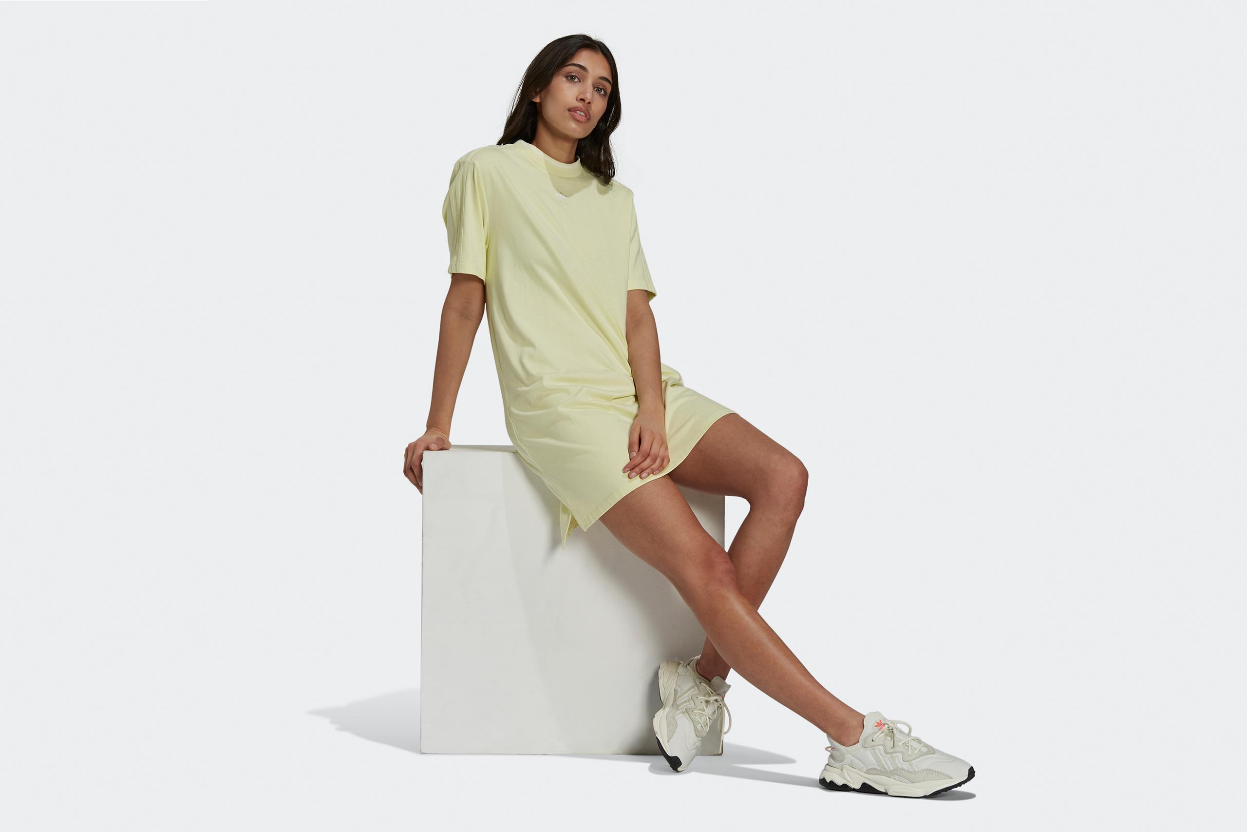 Adidas Women's Tee Dress Tennis Luxe Pack Hazy Yellow