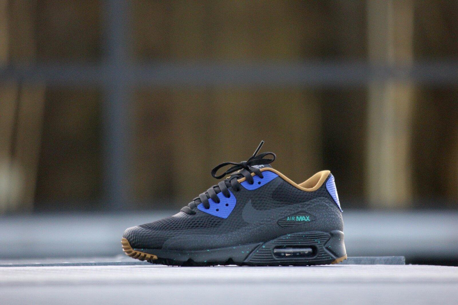 Nike Air Max 90 Ultra Essential Black Black Blue Emerald 819474