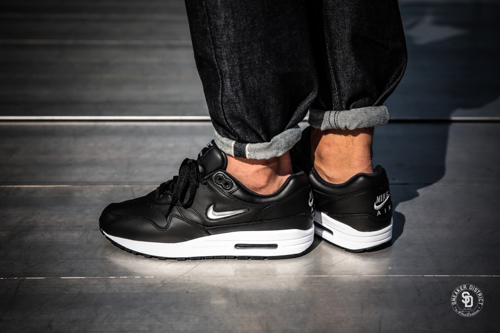 Nike Air Max 1 Premium SC Black/Metallic Silver-White - 918354-001