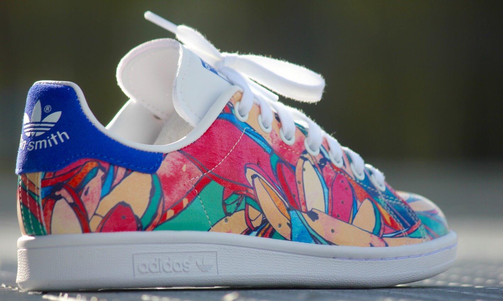 adidas stan smith flower