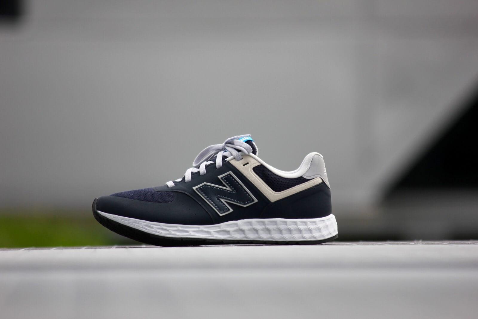 new product 469ba d22ba new balance navy 574