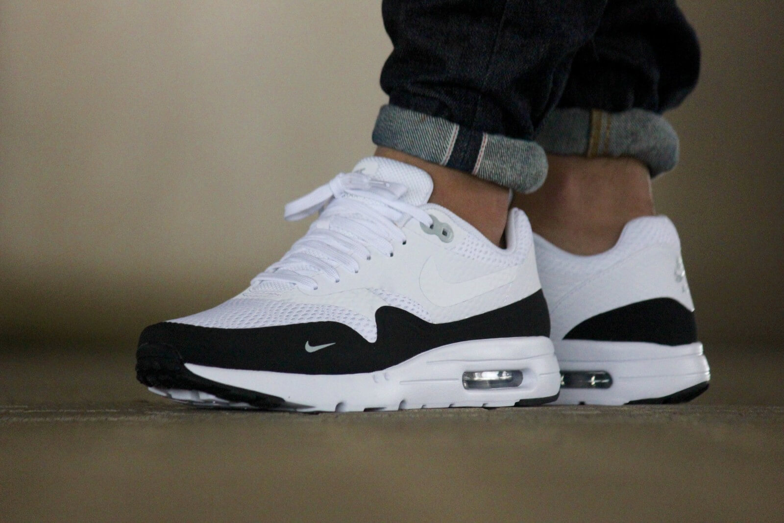 info for a7931 3f8d3 Nike Air Max 1 White Black Wolf Grey