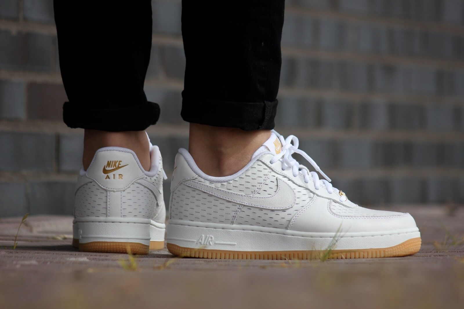 air force 1 white gold