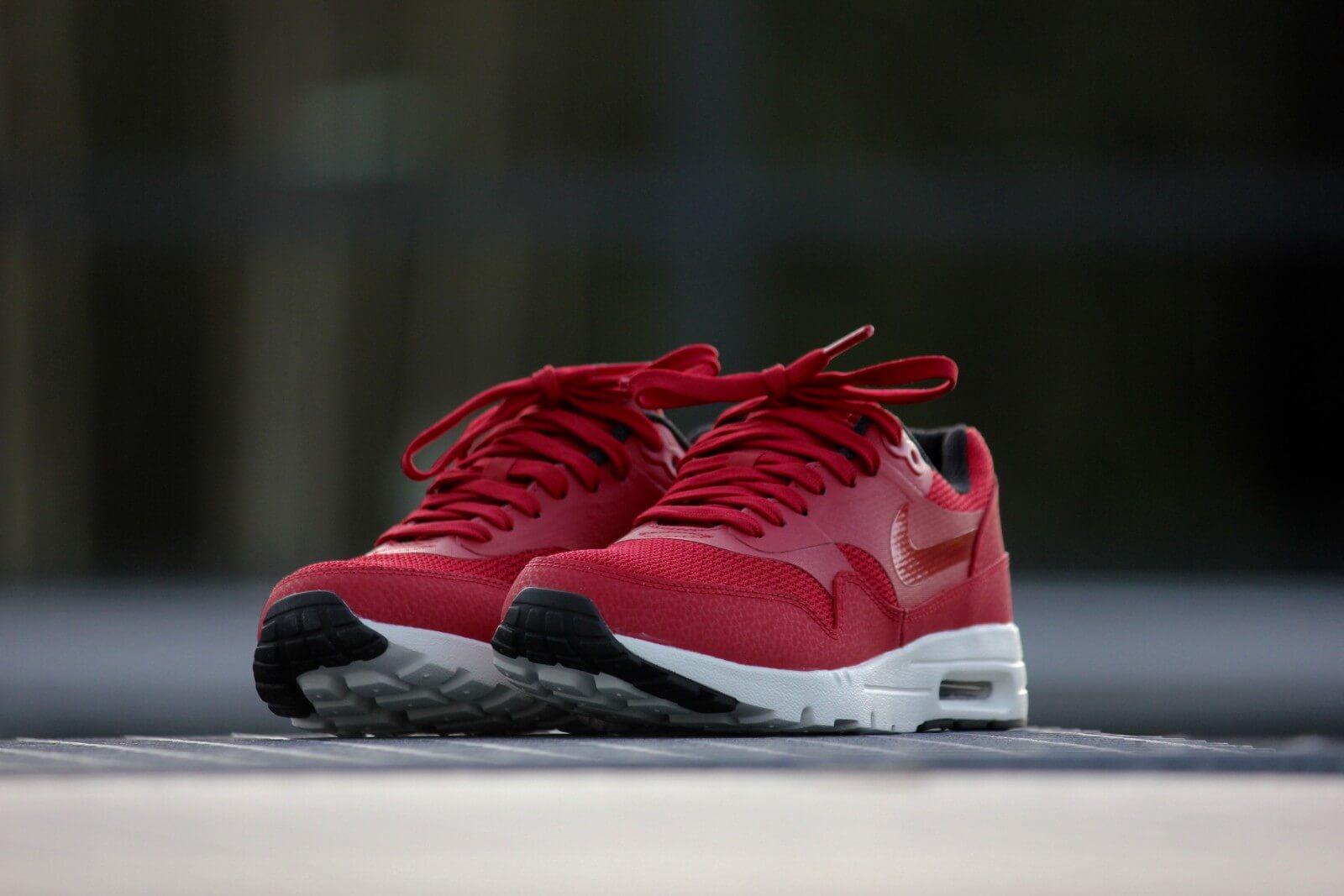 Nike Air Max 1 Ultra Essentials Gym Red Black Sail 704993 600