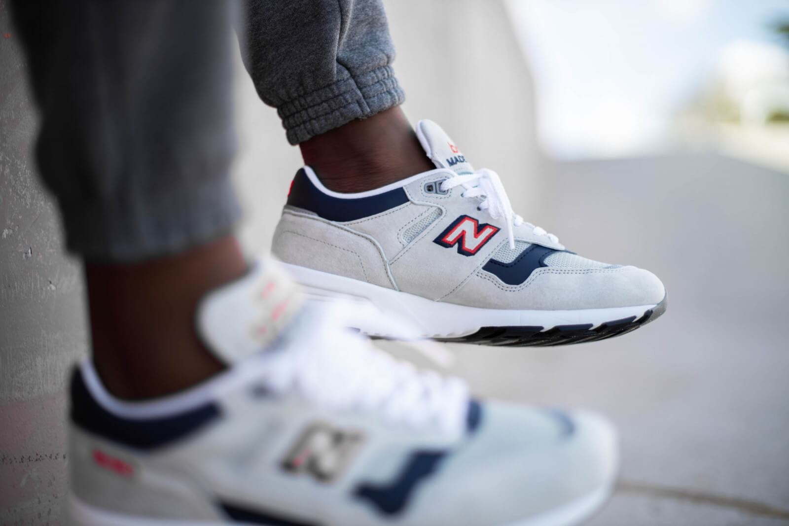 New Balance M1530WNR Grey/Navy-Red Made in England - 781081-60-3