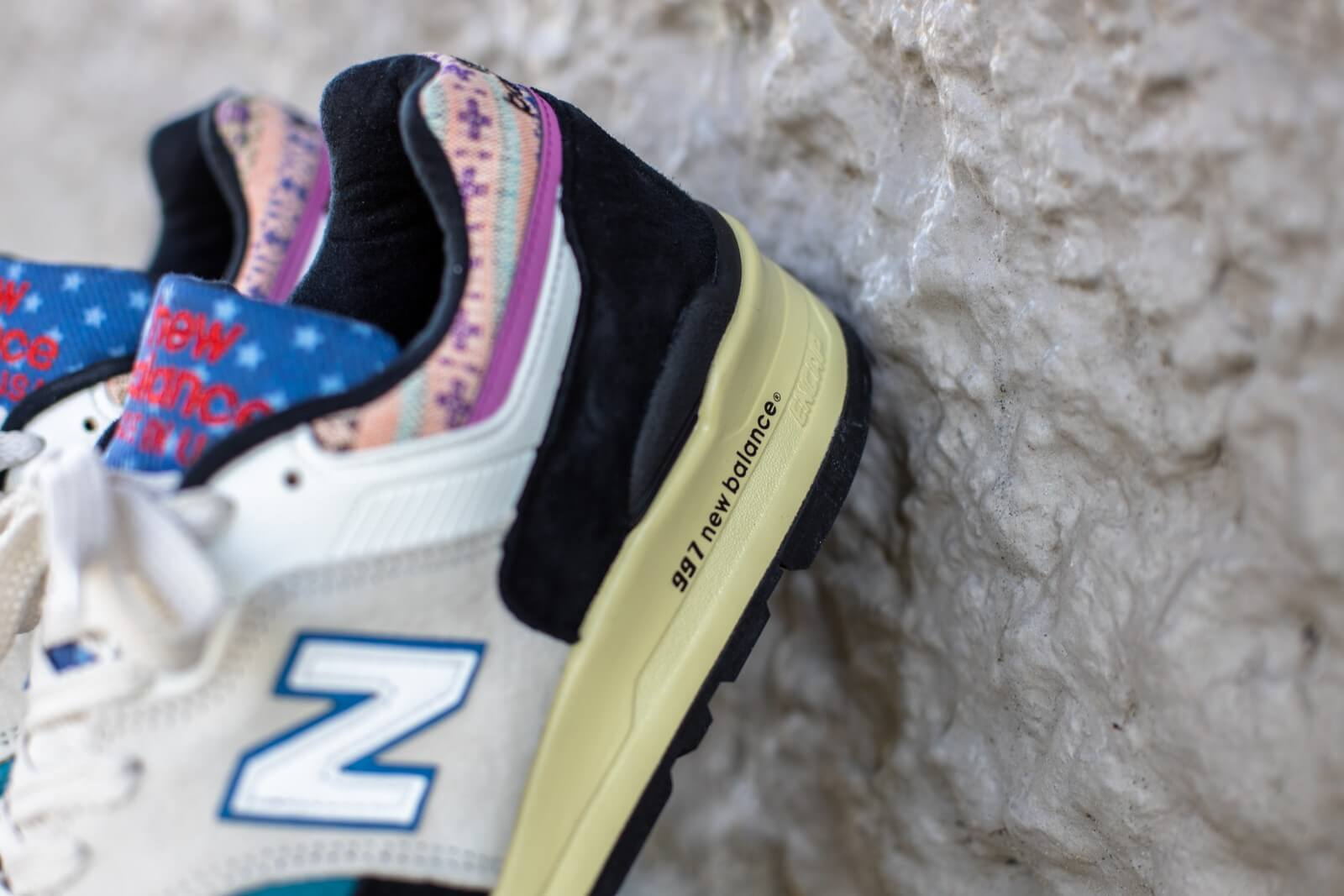 New Balance M997PAL Festival Pack White/Black-Multi color Made in USA -  M997PAL