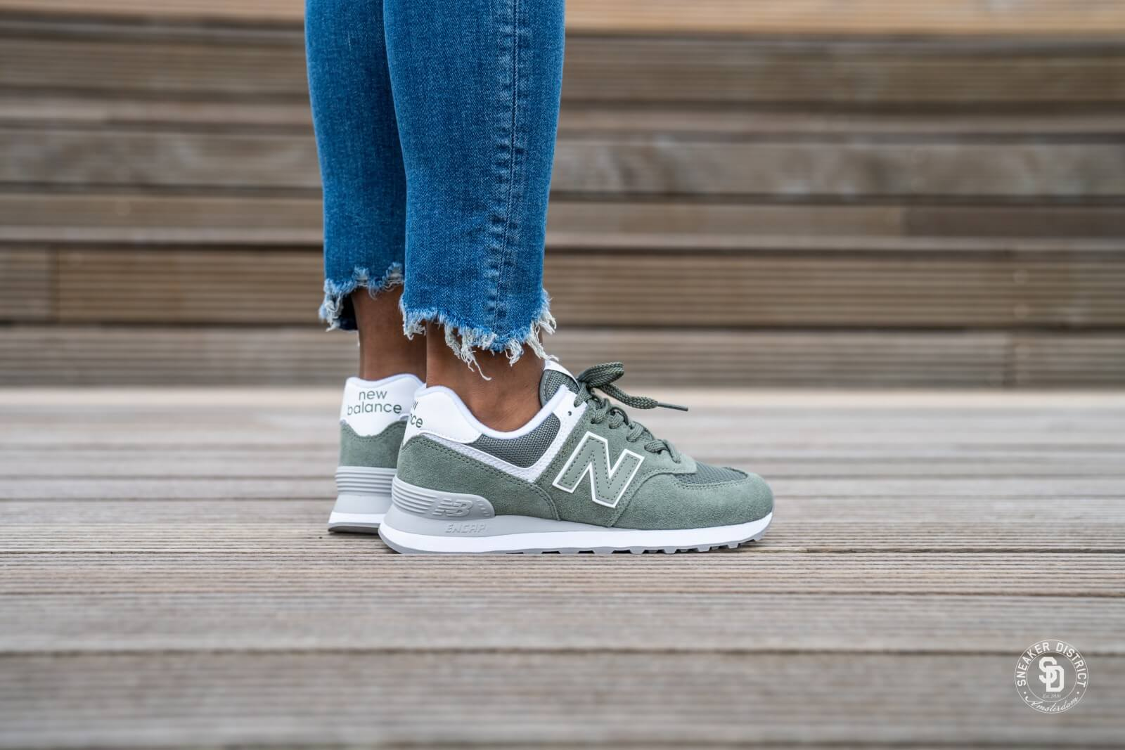 New Balance WL574 ESA Green - 698561-50-6