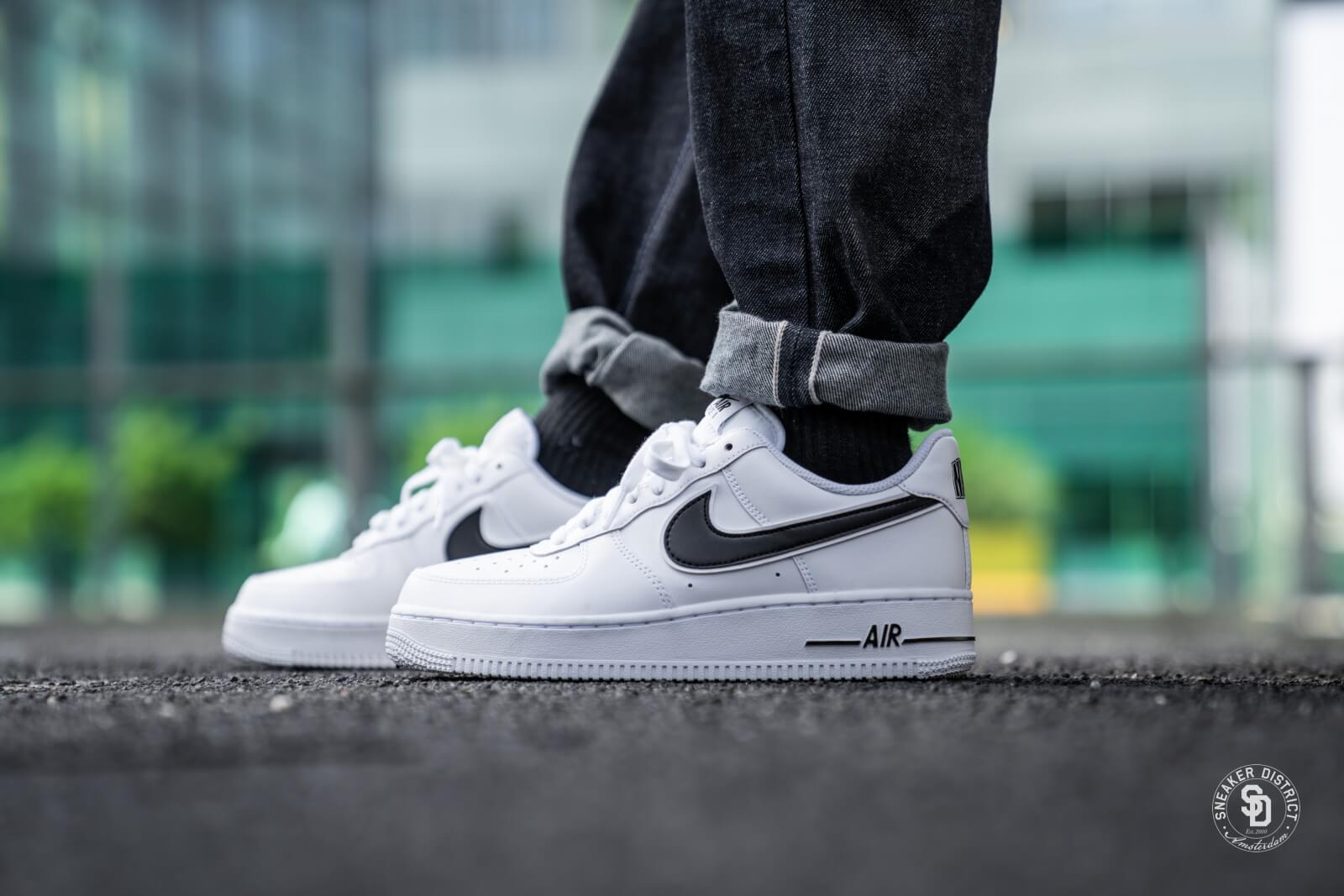 nike air force 1 white and black low