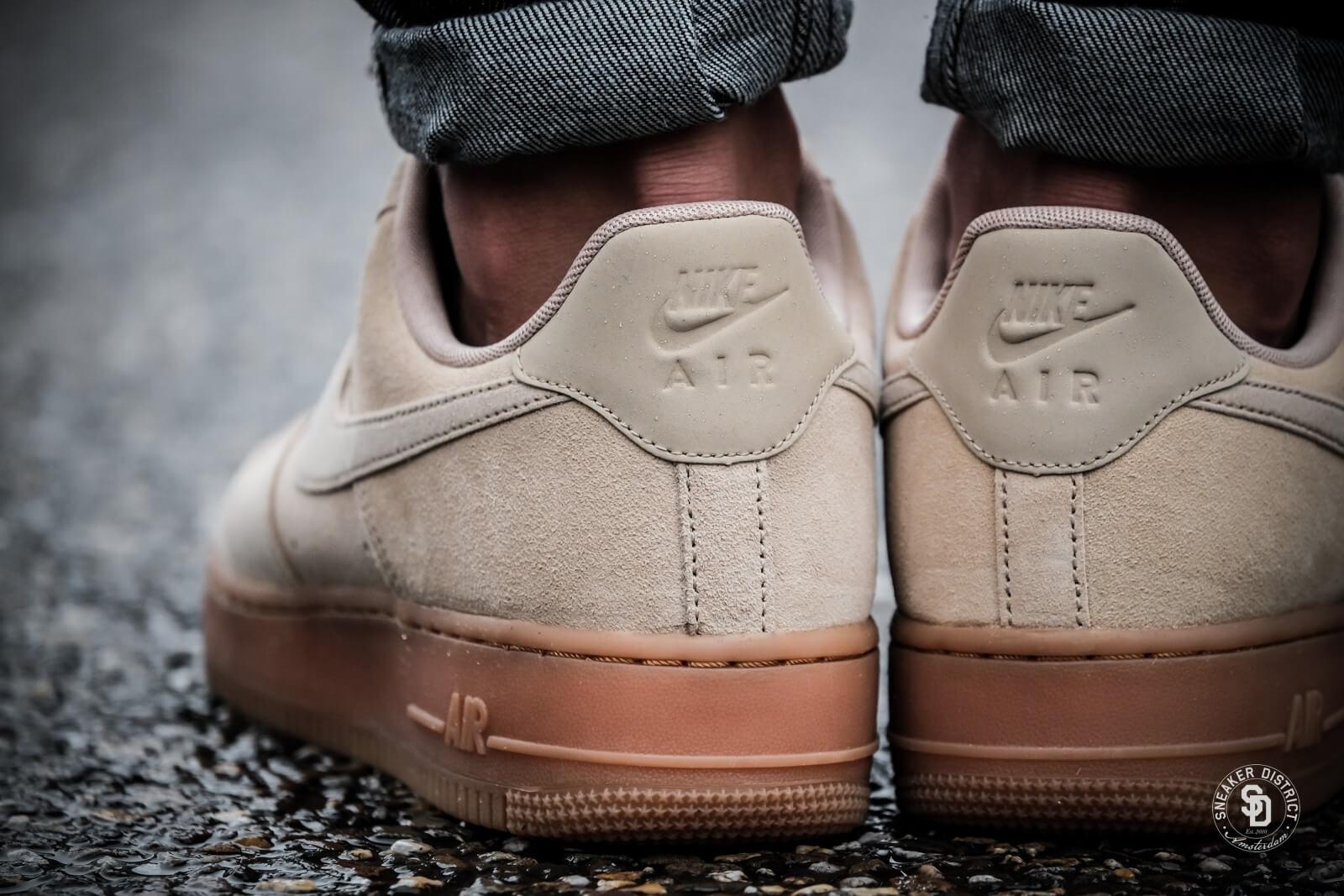 nike air force 1 brown suede