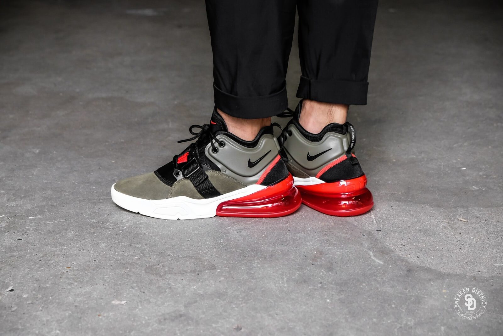 nike air force 270 green red