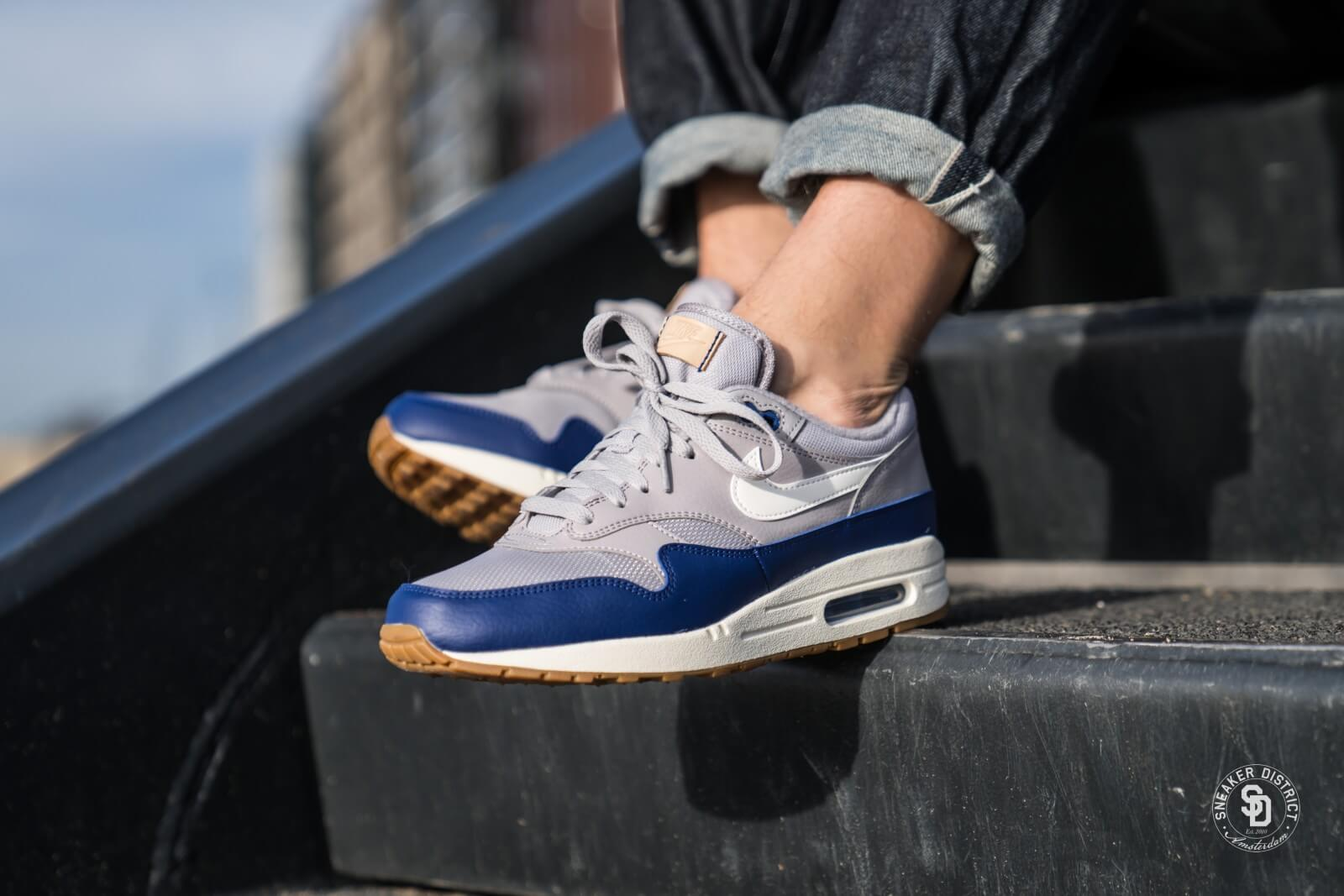 new concept f194d 434f9 ... free shipping nike air max 1 atmosphere grey sail deep royal blue 7987d  25796
