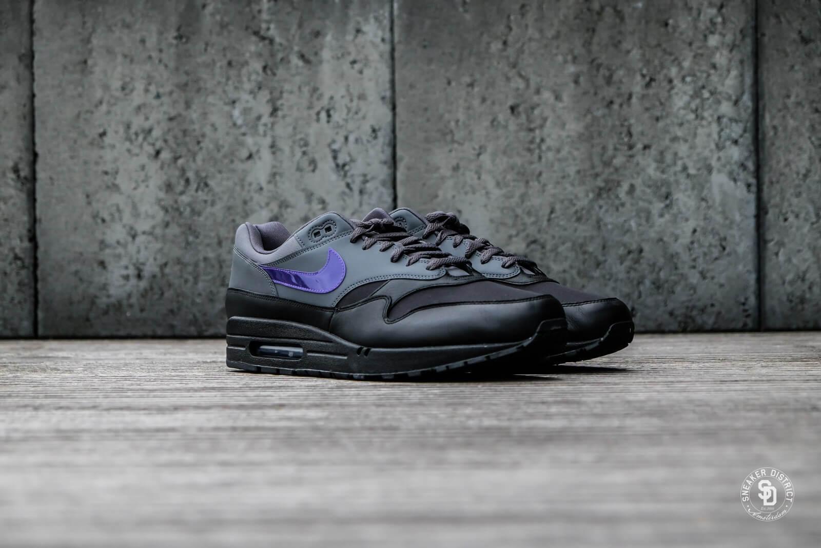 1f8b76818d ... coupon code for nike air max 1 dark grey fierce purple black d5b50 44e14