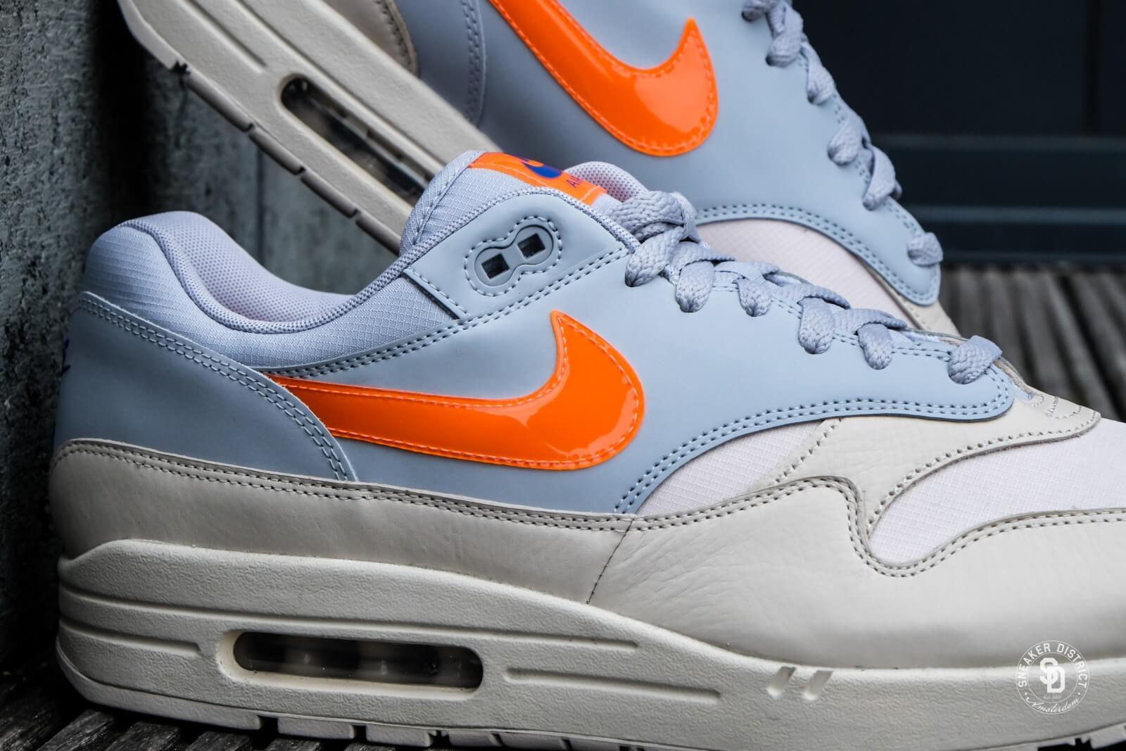 nike air max 1 blue grey orange