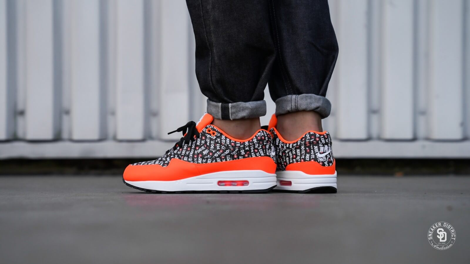 Nike Air Max 1 Premium BlackTotal orange White 875844 008