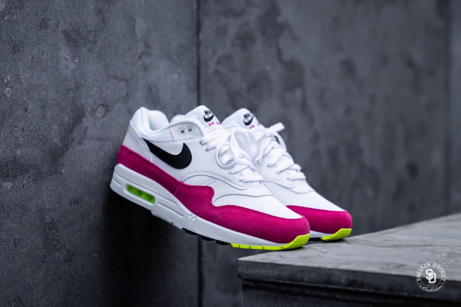 Nike Air Max 1 WhiteBlack Volt Pink Rush AH8145 111