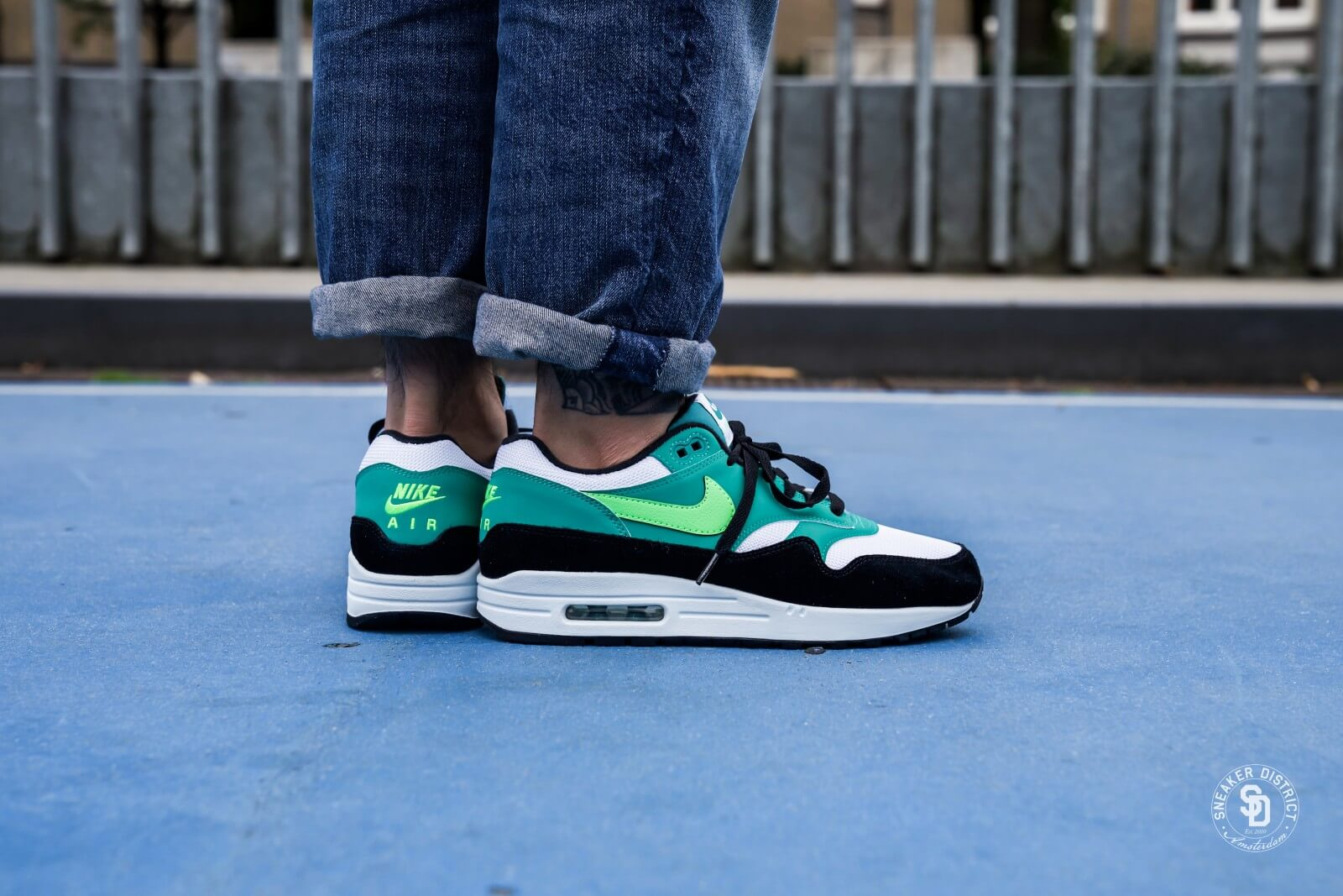 Nike Air Max 1 WhiteGreen Strike Neptune Green AH8145 107