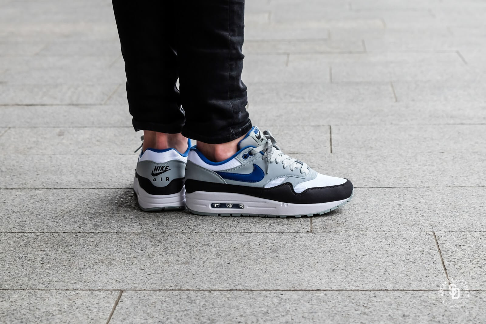 Nike Air Max 1 WhiteGym Blue Light Pumice Black For Sale