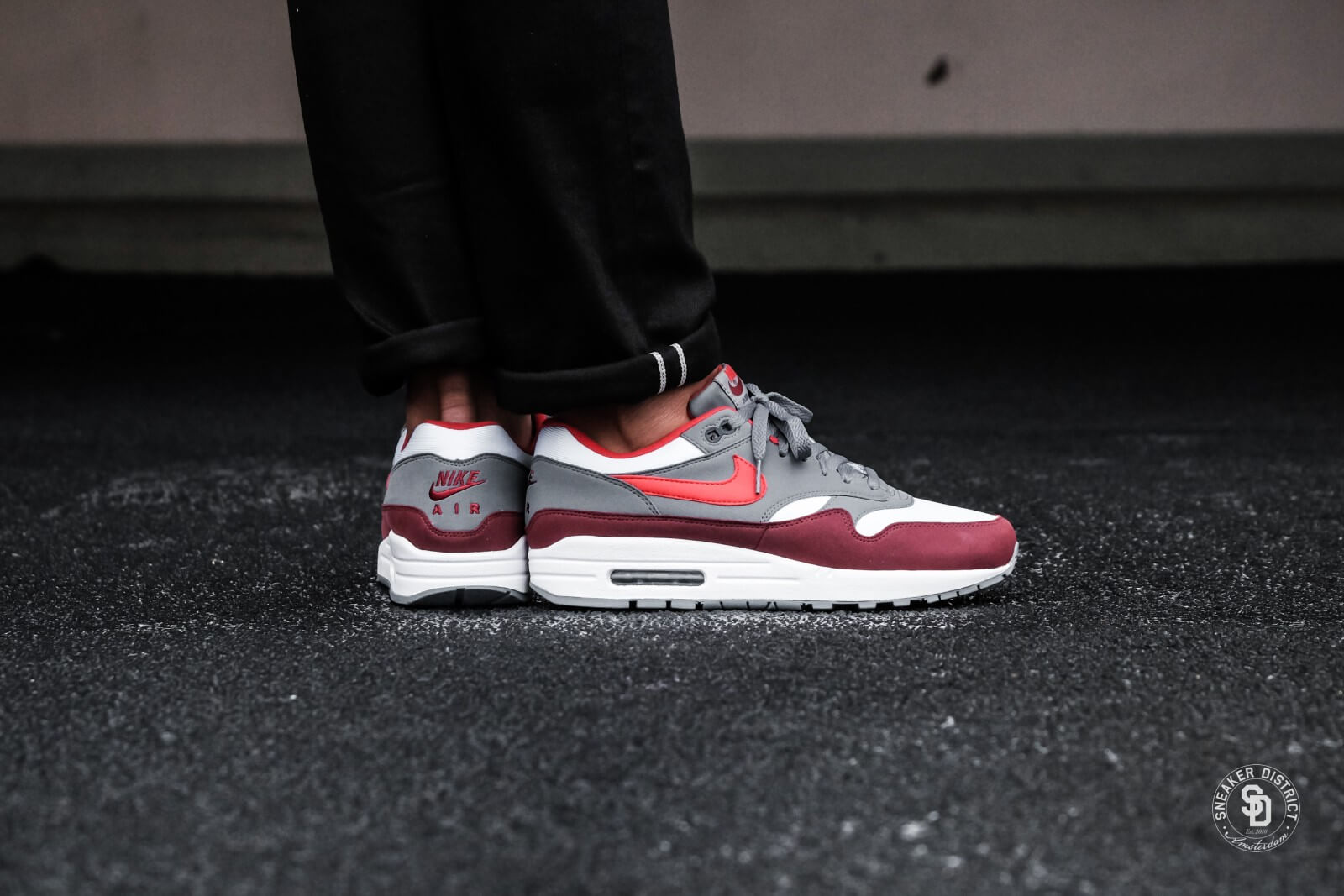 reliable quality various colors great quality Nike Air Max 1 White/University Red-Cool Grey - AH8145-100