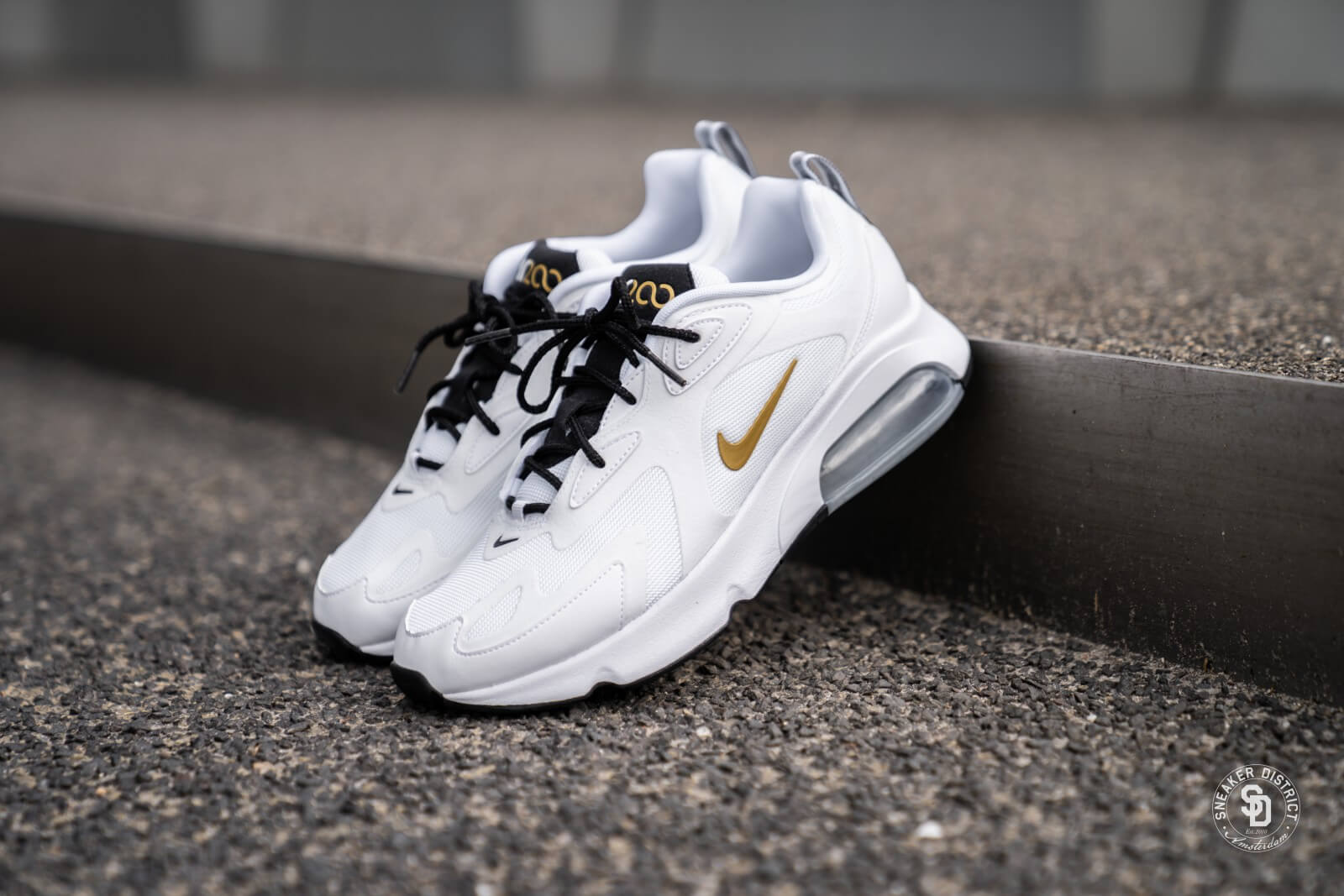 2018 sneakers promo code buying cheap Nike Air Max 200 White/Metallic Gold-Black - AQ2568-102
