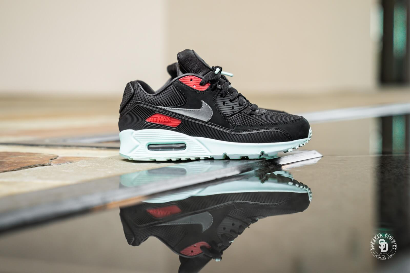 Nike Air Max 90 Premium Vinyl BlackCool Grey Teal Tint CK0902 001