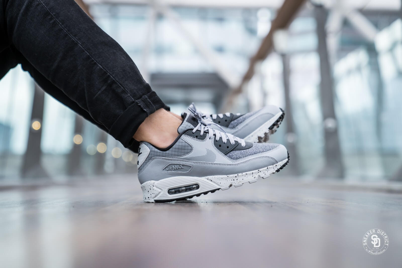 Mens Nike Air Max 90 Essential PSG Grey Suede For Running