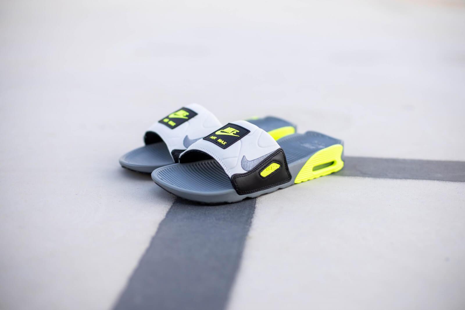 Nike Air Max 90 Slide Smoke Grey/Volt-Black - BQ4635-001