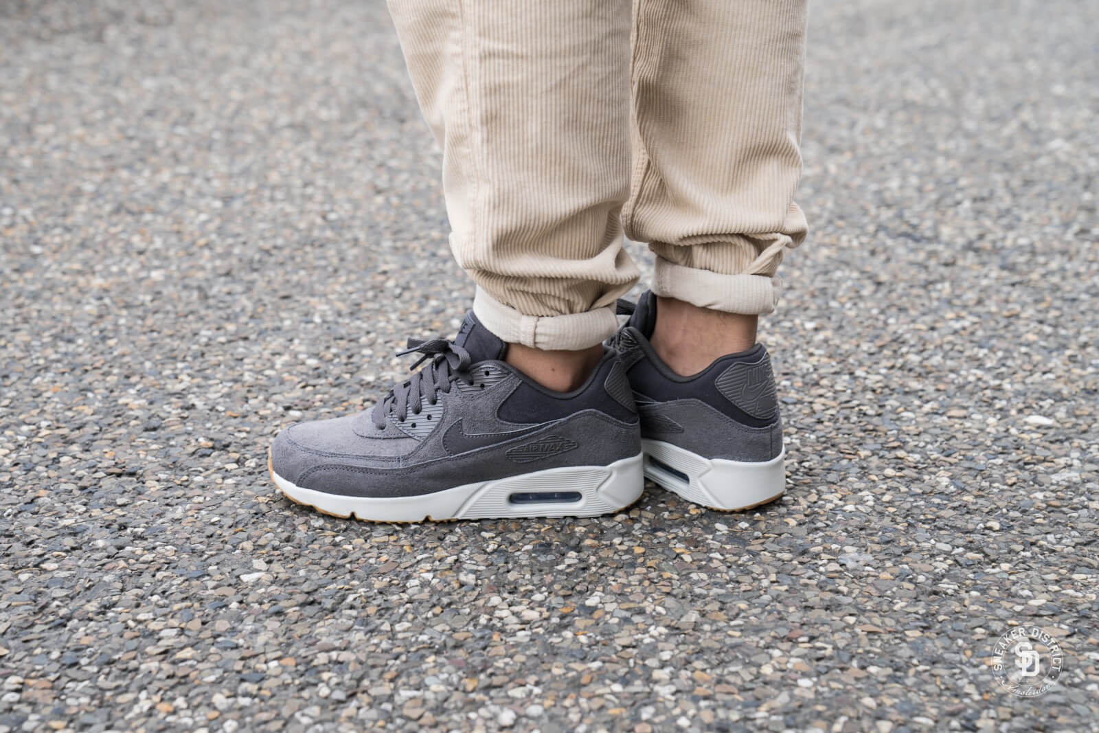 Nike Air Max 90 Ultra 2.0 Thunder Grey Light Bone Gum Mens