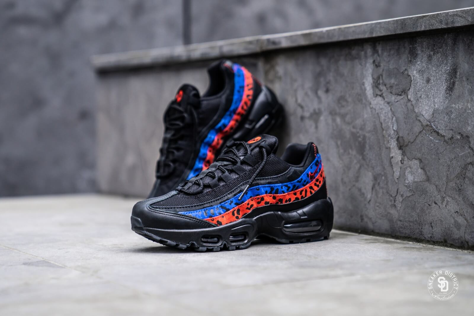 Nike Air Max 95 Premium Black Leopard Habanero RedRacer Blue CD0180 001