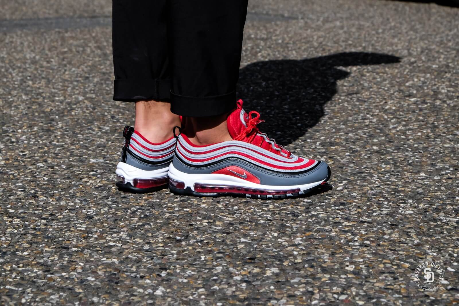 Nike Air Max 97 Dark Grey Wolf Grey Gym Red 921826 007