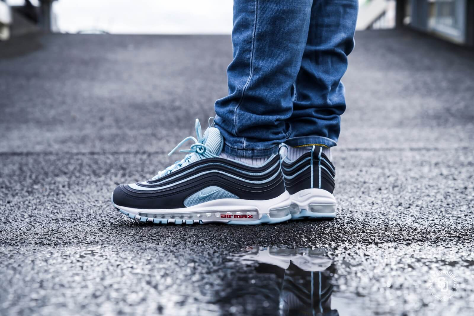 Nike Air Max 97 Premium Dark obsidianOcean bliss University red AV7025 400