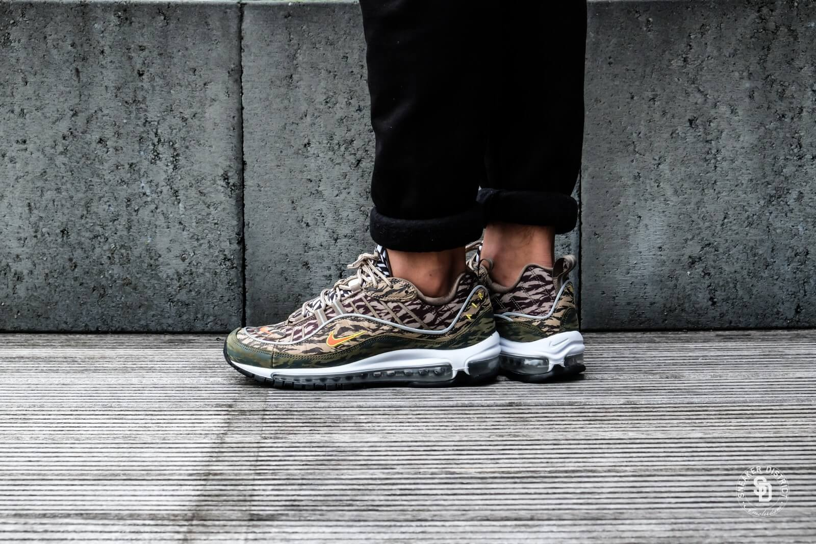 Nike Air Max 98 AOP KhakiTeam Orange Medium Olive AQ4130 200