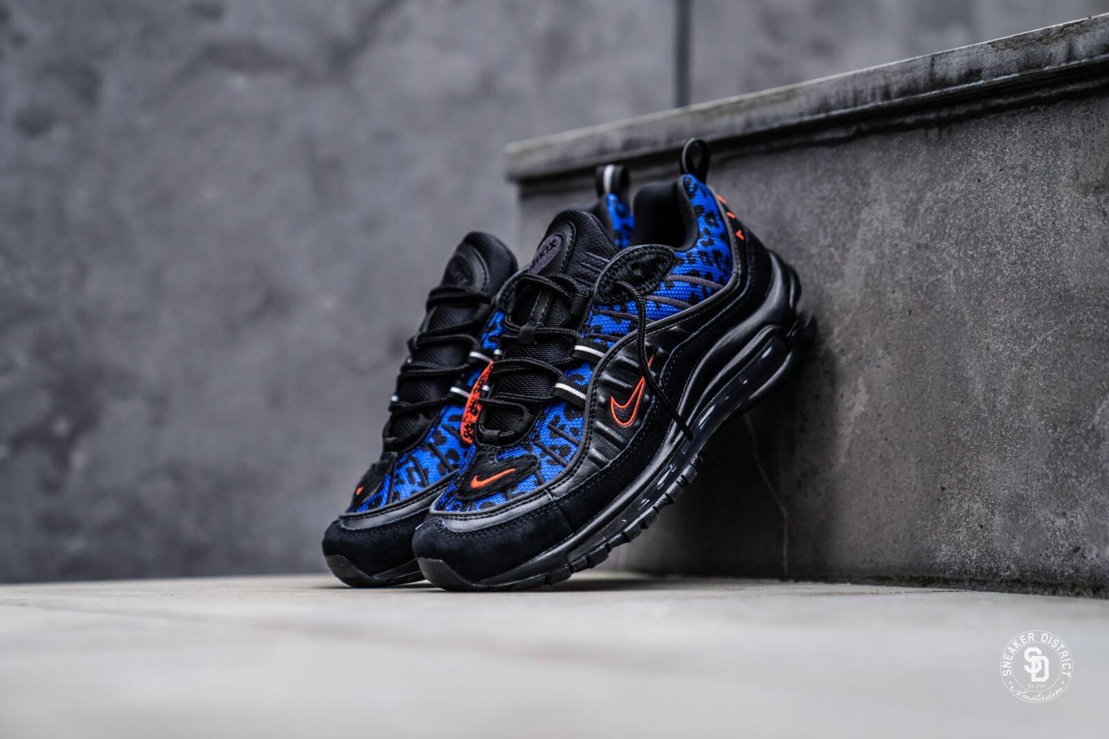 air max 98 blue black