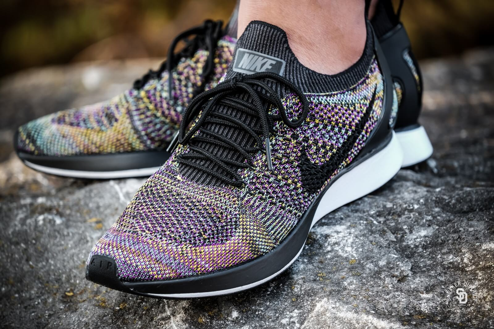 Nike Air Zoom Mariah Flyknit Racer Black Vivid Purple
