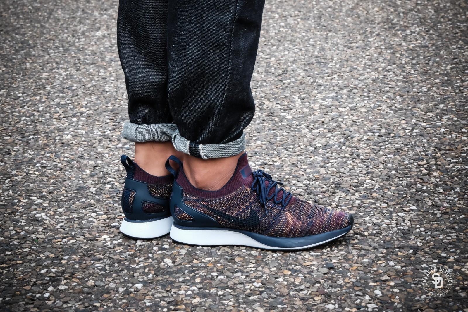 on feet at best quality best value Nike Air Zoom Mariah Flyknit Racer College Navy/Bordeaux-Desert Moss   Koop  online bij Sneaker District en betaal geen verzendkosten