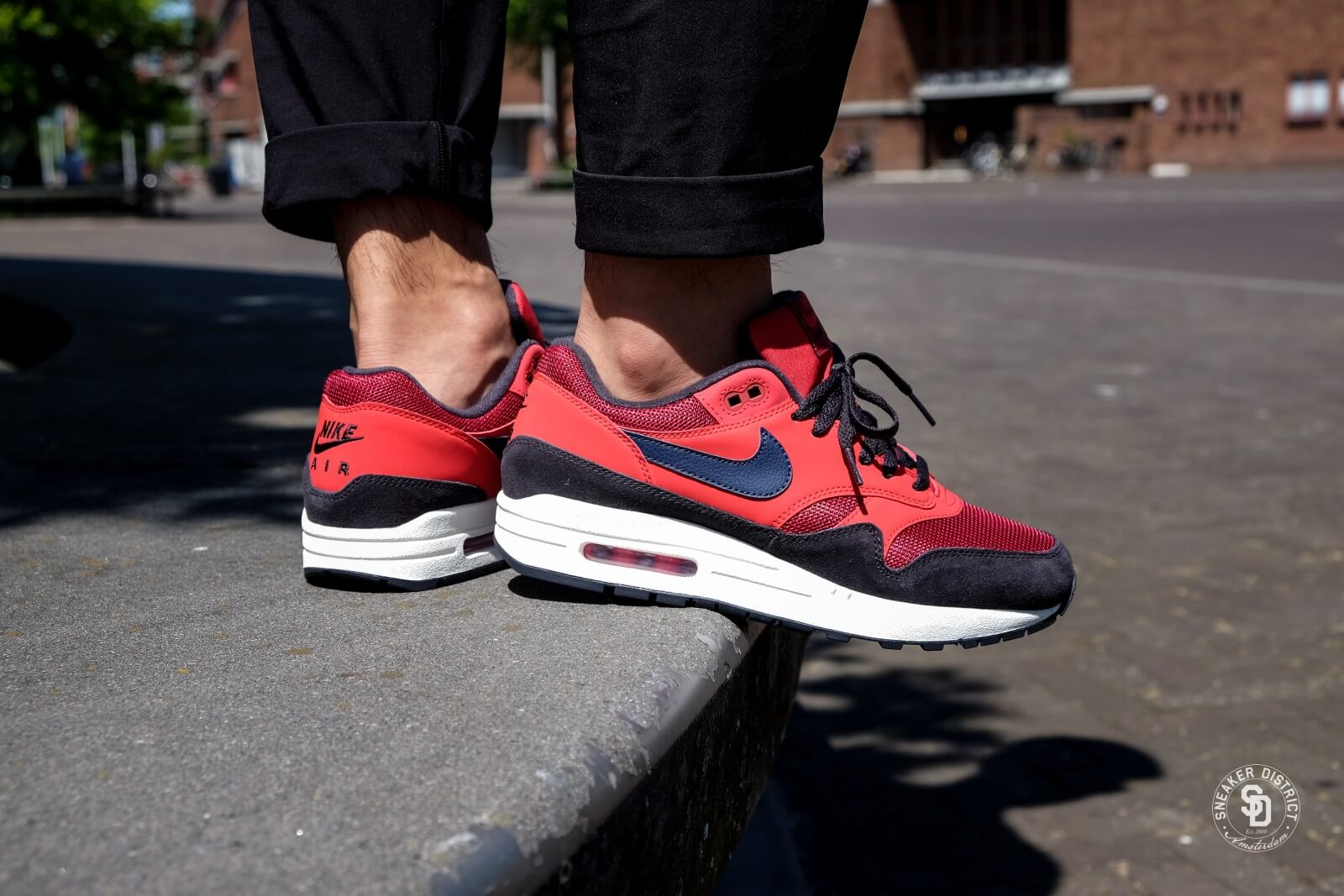 Nike Air Max 1 Red CrushMidnight Navy Red AH8145 600