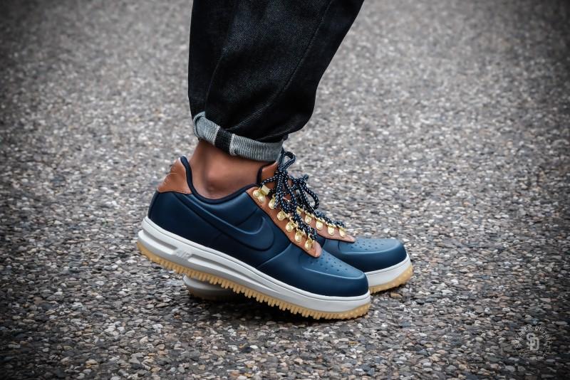 972fea686358 Nike Lunar Force 1 Low Duckboot Obsidian Saddle Brown sneakers ...