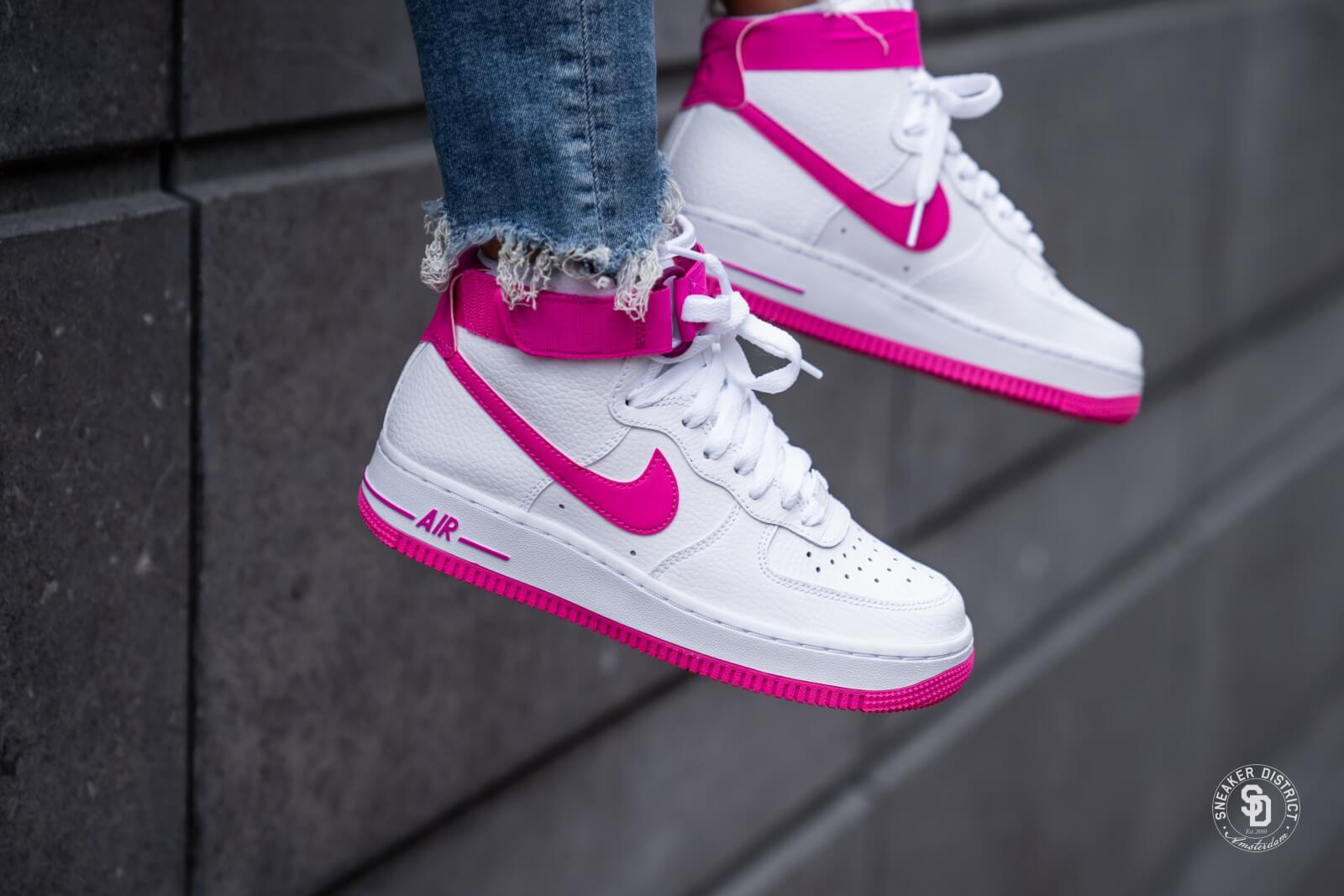 Nike Wmns Air Force 1 High LX   White   Sneakers   AO5138