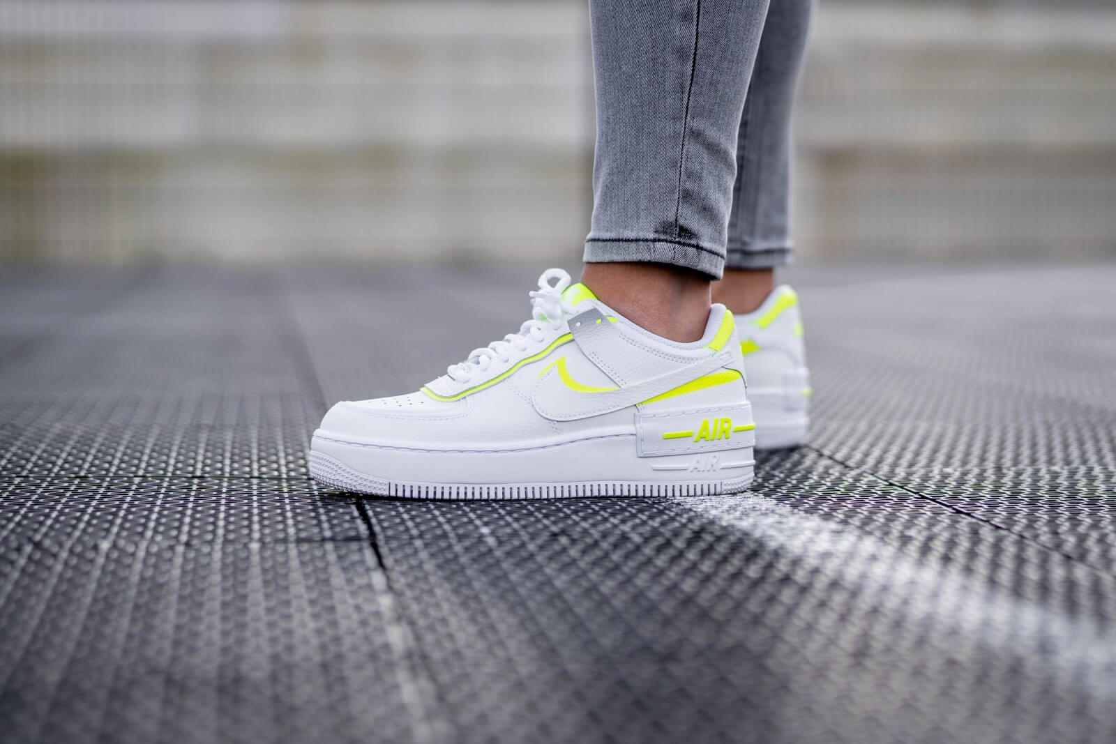 Nike Women S Air Force 1 Shadow White Lemon Venom Ci0919 104