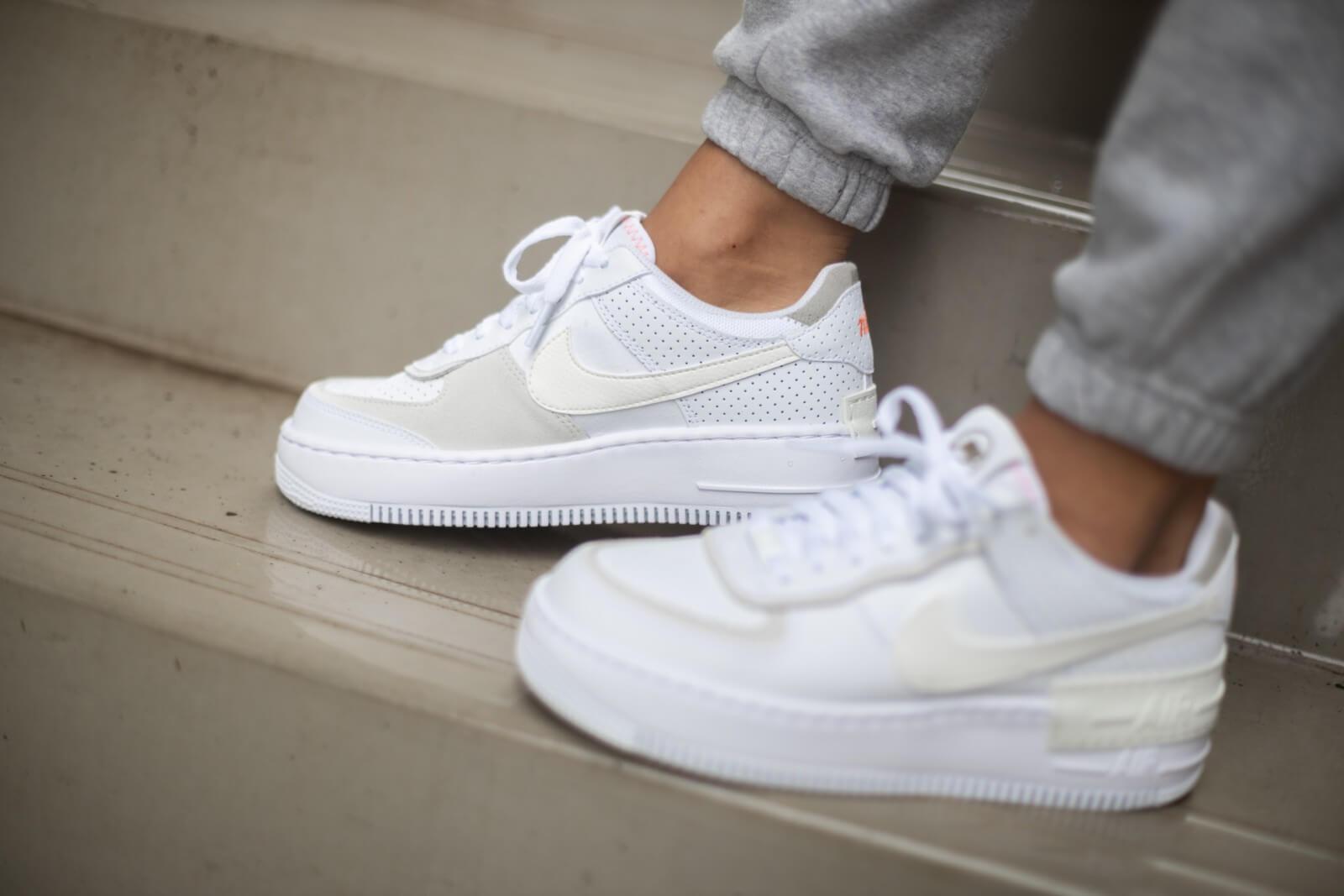 Nike Women S Air Force 1 Shadow White Sail Stone Cz8107 100