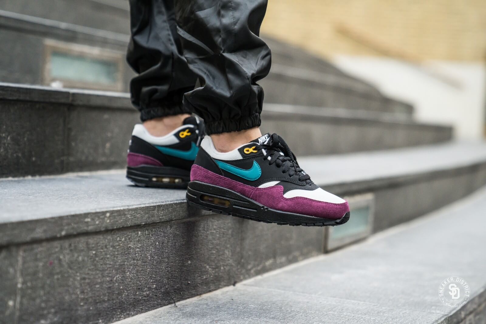 info for 448ce 61a47 ... shop nike womens air max 1 black geode teal bordeaux 1ee37 45b16