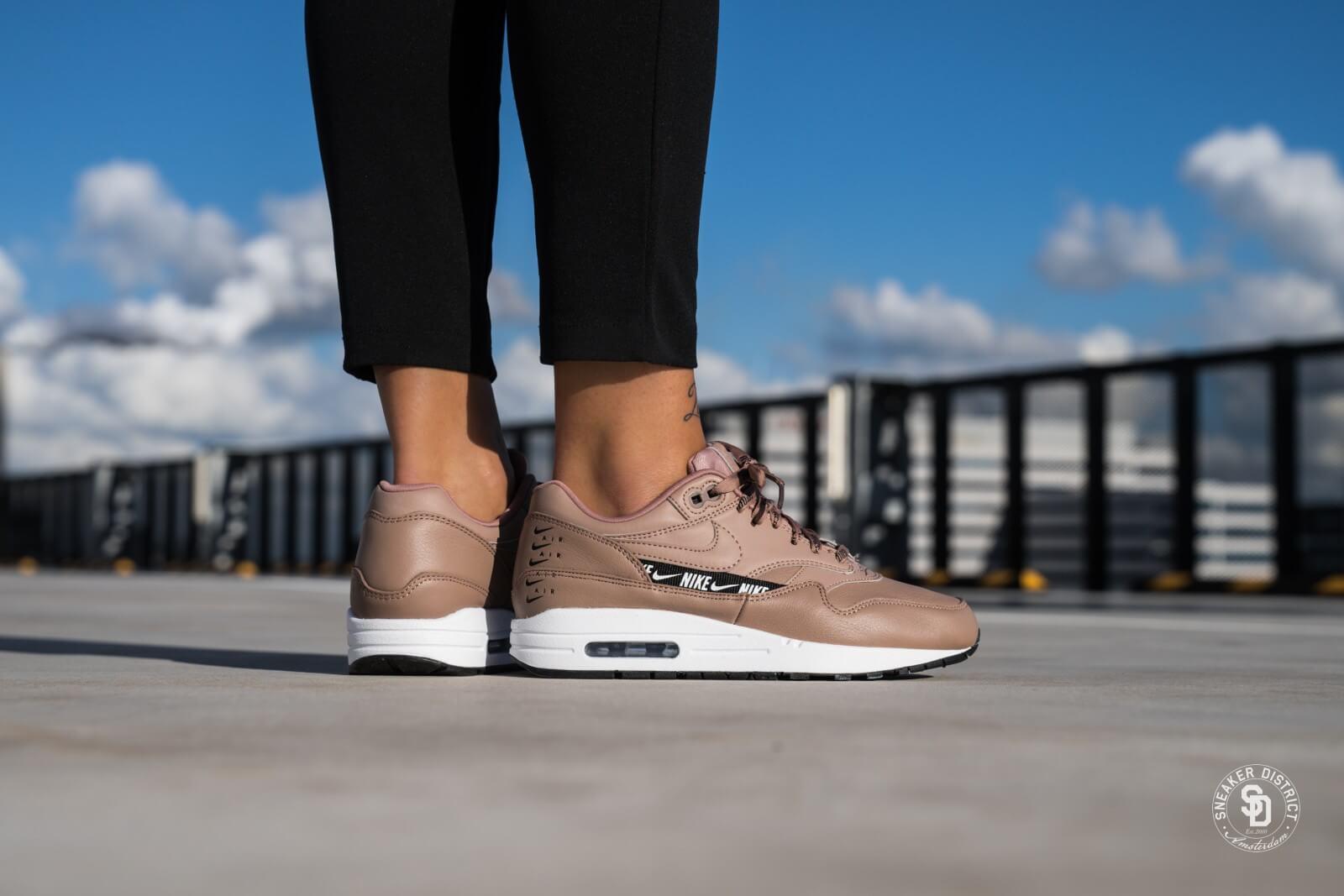 Nike Women's Air Max 1 SE Desert DustBlack White 881101 201
