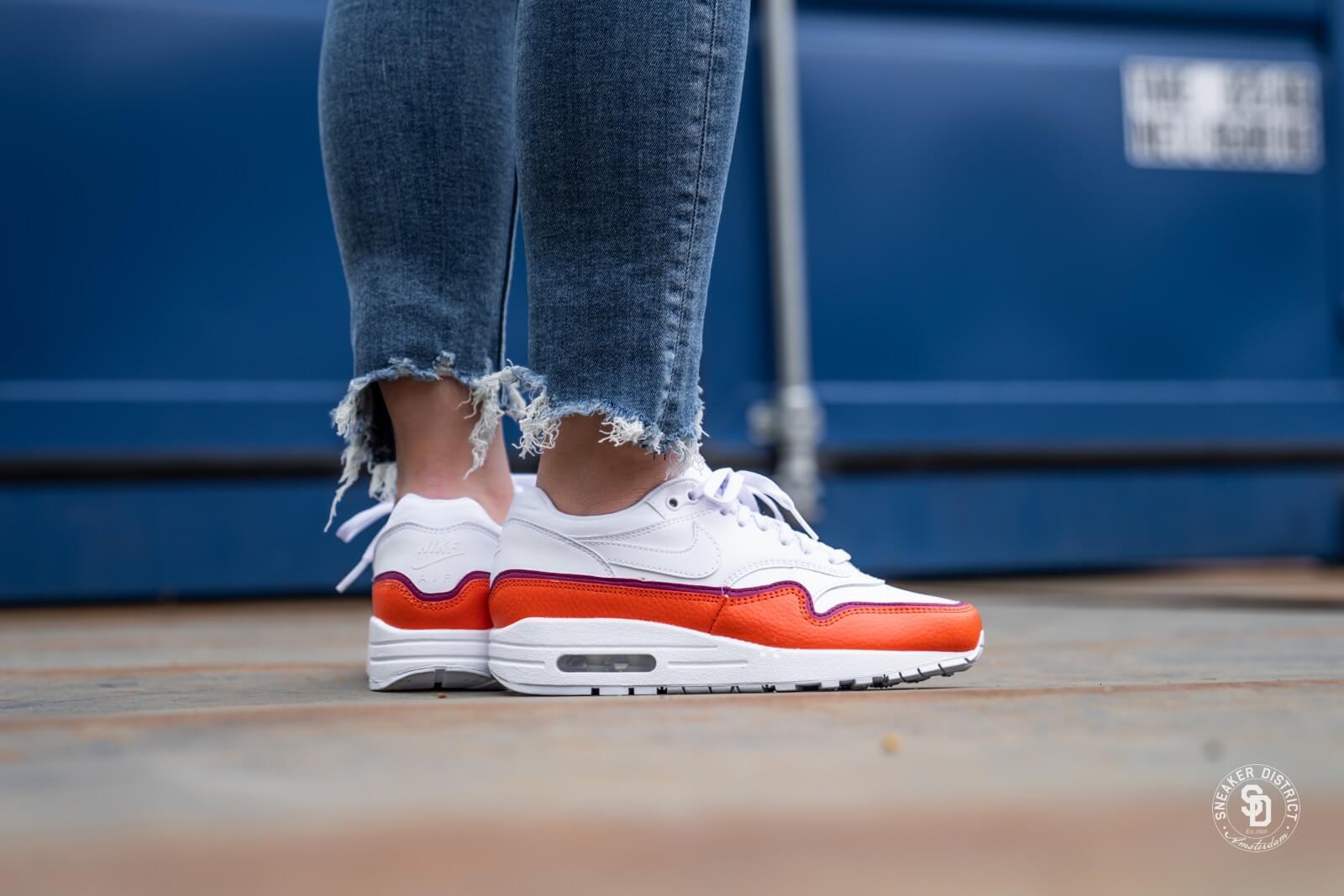 air max 1 blanche et orange