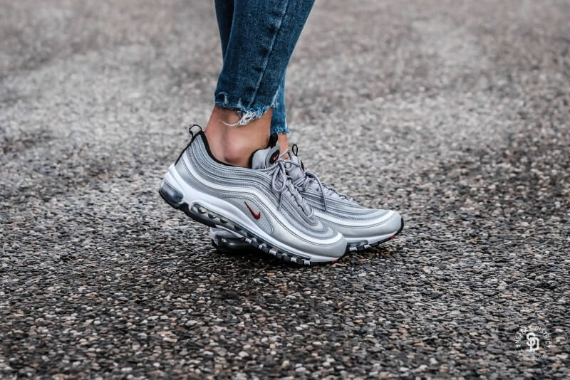 178248d347 Nike Women's Air Max 97 OG Silver Bullet Metallic Silver/Varsity Red  sneakers | Online sneaker store | Sneaker District