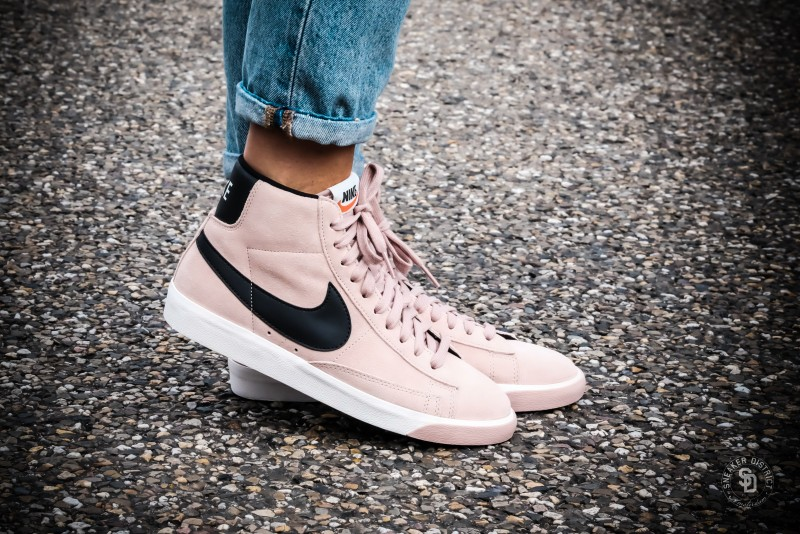release date 21994 fed5d Nike Women s Blazer Mid Suede Vintage Particle Pink Black-Gum - 917862-601