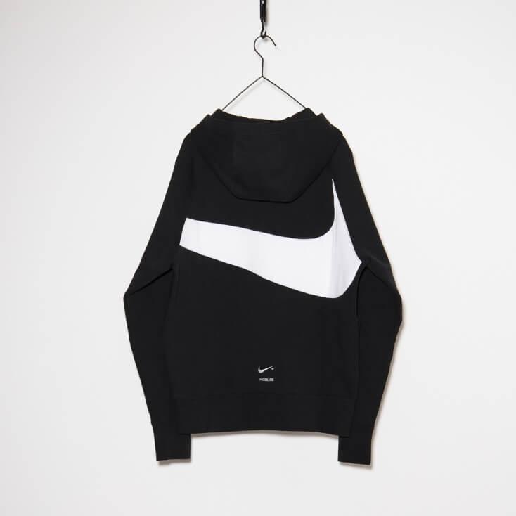 Nike NSW Tech Fleece Swoosh Hoodie Black / White